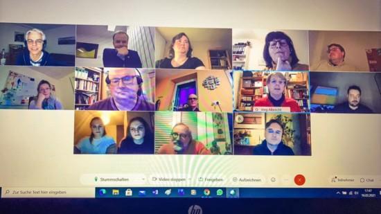 Foto Teilnehmende Fraktionssitzung 16.02.2021